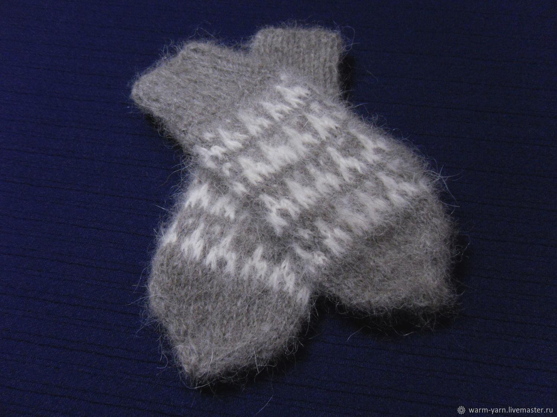 Children's knitted mittens, Mittens, Klin,  Фото №1
