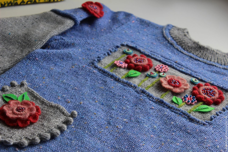 Вязаные детские пуловеры