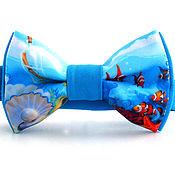 Бабочки ручной работы. Ярмарка Мастеров - ручная работа Галстук-бабочка морская мир Ариэль подводное царство. Handmade.