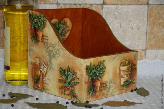 """Корзины, коробы ручной работы. Ярмарка Мастеров - ручная работа. Купить Короб """"Травы"""". Handmade. Интерьер кухни, Короб для мелочей"""