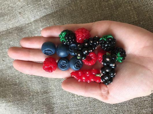 Еда ручной работы. Ярмарка Мастеров - ручная работа. Купить Овощи, фрукты, ягоды из полимерной глины. Handmade. Тёмно-зелёный