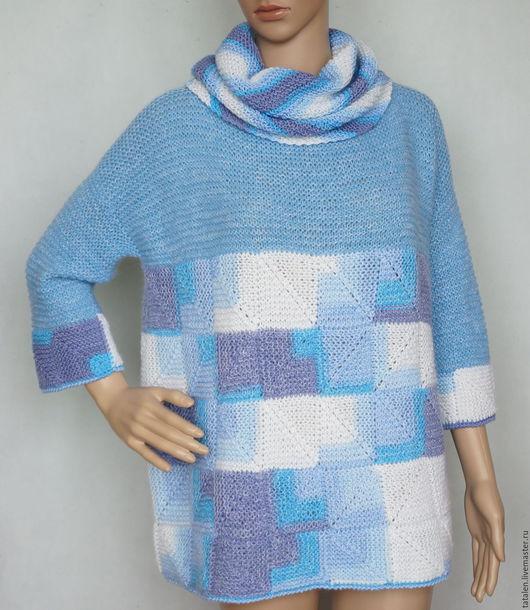"""Кофты и свитера ручной работы. Ярмарка Мастеров - ручная работа. Купить Пуловер пэчворк  альпака-мохер-меринос """"Микс"""". Handmade."""