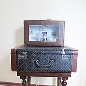 Кукольные домики ручной работы. Ярмарка Мастеров - ручная работа Чемодан-светильник Париж. Handmade.