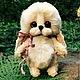 Мишки Тедди ручной работы. Ярмарка Мастеров - ручная работа. Купить Зайка Ксюша.. Handmade. Бежевый, зайчик, ручная работа