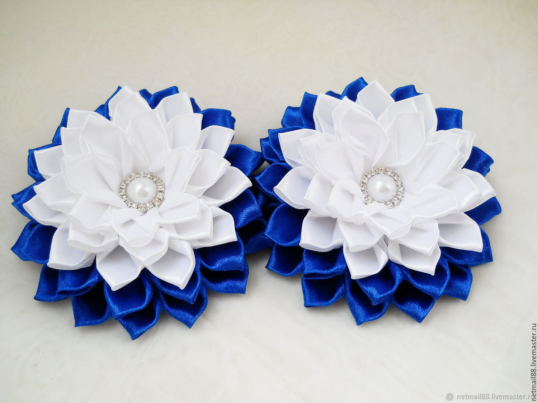 Букет, мк цветы из лент на 1 сентября