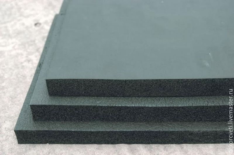 Rubber Mat (pad) soft for 2cm color work, working with leather, Floristry Tools, Izhevsk,  Фото №1
