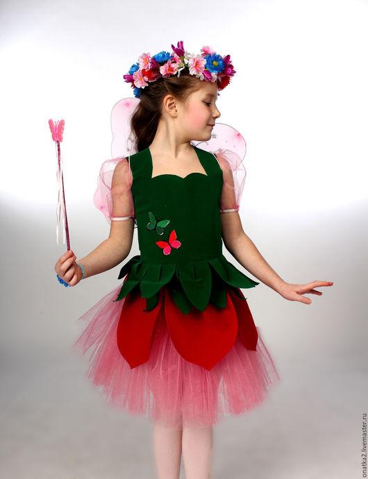 Детские карнавальные костюмы ручной работы. Ярмарка Мастеров - ручная работа. Купить Цветочная фея (карнавальный костюм). Handmade. Розовый