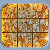 Для дома и интерьера ручной работы. Ярмарка Мастеров - ручная работа потолочное  панно ЦВЕТЫ. Handmade.