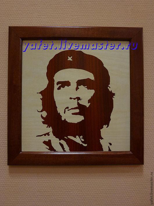 Люди, ручной работы. Ярмарка Мастеров - ручная работа. Купить Че Гевара портрет в технике маркетри. Handmade. Че гевара