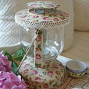 Для дома и интерьера ручной работы. Ярмарка Мастеров - ручная работа Shabby Roses. Лампа / подсвечник. Handmade.