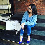 Одежда handmade. Livemaster - original item Blue pullover women`s - women`s pullovers. Handmade.