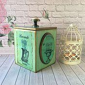 """Для дома и интерьера ручной работы. Ярмарка Мастеров - ручная работа Короб для сыпучих """"Лаванда"""", короб для сыпучих декупаж. Handmade."""