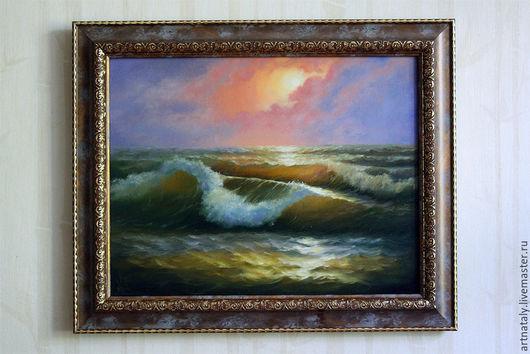 Картина маслом `Морская волна` (масло, холст 35х45) Автор: Ермакова Наталья (Nataly)