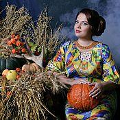 Одежда ручной работы. Ярмарка Мастеров - ручная работа Шелковое платье с укороченным рукавом. Handmade.