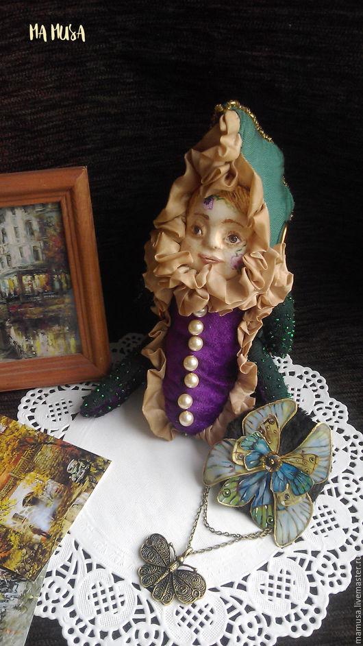 """Коллекционные куклы ручной работы. Ярмарка Мастеров - ручная работа. Купить Коллекционная кукла """"Мистер Горошек"""". Handmade. Тёмно-зелёный"""