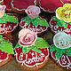 """Кулинарные сувениры ручной работы. Ярмарка Мастеров - ручная работа. Купить Имбирные пряники """"Розочка с любовью"""". Handmade. Имбирные пряники"""