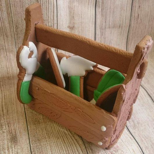 """Подарки для мужчин, ручной работы. Ярмарка Мастеров - ручная работа. Купить Набор пряников  """"Ящик с инструментами"""". Handmade. Имбирные пряники"""