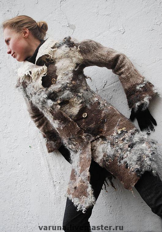 """Верхняя одежда ручной работы. Ярмарка Мастеров - ручная работа. Купить Войлочное пальто """"Королева неолита"""". Handmade. Войлок, кудри"""
