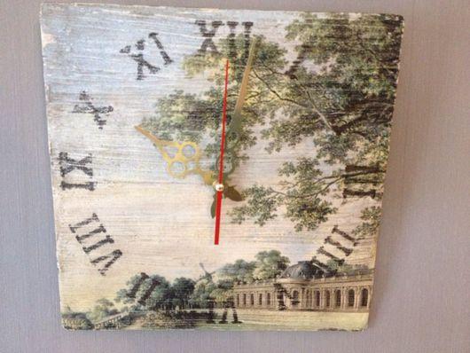 Часы для дома ручной работы. Ярмарка Мастеров - ручная работа. Купить Старый парк. Handmade. Часы, фанера