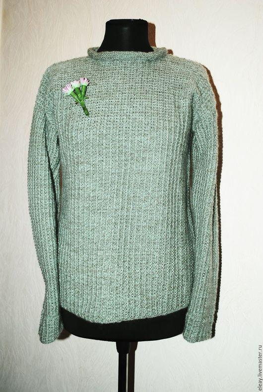 """Кофты и свитера ручной работы. Ярмарка Мастеров - ручная работа. Купить свитер """"Полынька"""". Handmade. Мятный, свитер женский"""