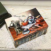 """Подарки к праздникам ручной работы. Ярмарка Мастеров - ручная работа Шкатулка """" Мужская"""". Handmade."""