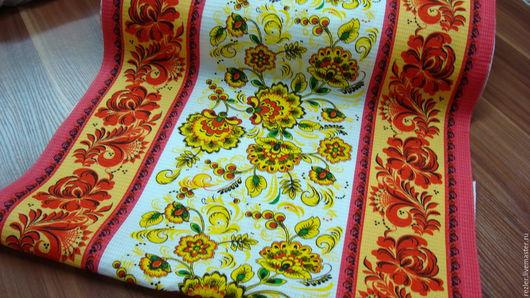 """Текстиль, ковры ручной работы. Ярмарка Мастеров - ручная работа. Купить полотенце вафельное """"Хохлома"""". Handmade. Комбинированный, полотенце"""