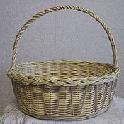 Для дома и интерьера handmade. Livemaster - original item Oval basket with high handle. Handmade.