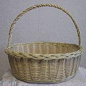 Для дома и интерьера handmade. Livemaster - original item Oval basket with high handle. Handmade.