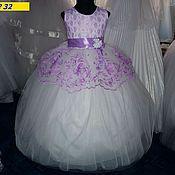 Работы для детей, ручной работы. Ярмарка Мастеров - ручная работа Платье с компьютерной вышивкой. Handmade.