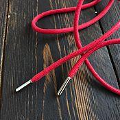 Фурнитура для шитья ручной работы. Ярмарка Мастеров - ручная работа Фурнитура для шитья: Шнурок max mara красный 93 см. Handmade.