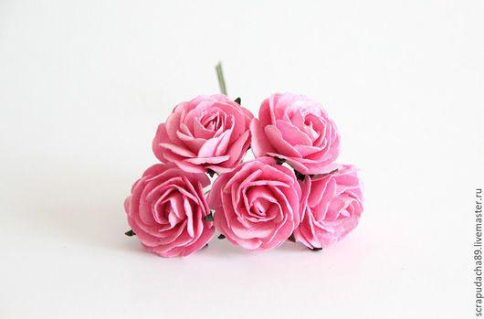 Открытки и скрапбукинг ручной работы. Ярмарка Мастеров - ручная работа. Купить Макси-розы розовые 5 шт.. Handmade. Розовый