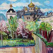 Картины и панно handmade. Livemaster - original item Oil painting. Gardens blooming wondrous ringing. Handmade.