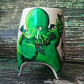 """Посуда ручной работы. Ярмарка Мастеров - ручная работа """"Ктулху"""" чашка с ножками (0758). Handmade."""