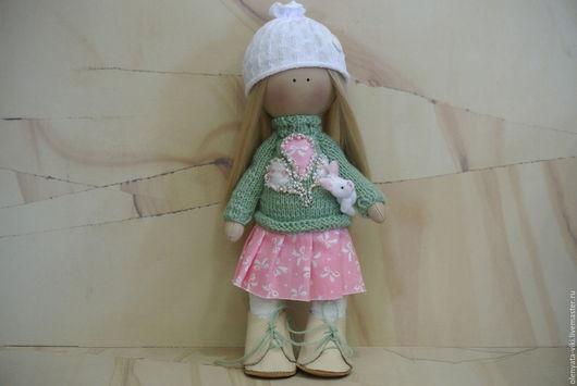 Куклы тыквоголовки ручной работы. Ярмарка Мастеров - ручная работа. Купить Интерьерная кукла. Handmade. Комбинированный, интерьерная кукла, тильда