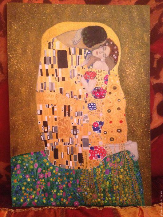 Великолепная картина Климта `Поцелуй` для любого интерьера, выполнена с душой мастером OLYA (Giove)