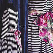 """Одежда ручной работы. Ярмарка Мастеров - ручная работа Авторское платье """"Stripes&Flowers"""". Handmade."""