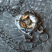 Украшения ручной работы. Ярмарка Мастеров - ручная работа БЕЗУМНОЕ ЧАЕПИТИЕ  кулон # 3 (сапфир, серебро, золото). Handmade.