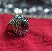 Украшения handmade. Livemaster - original item Silver ring with rainbow obsidian