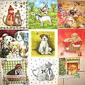 Набор салфеток  № 34 Кошки и собаки