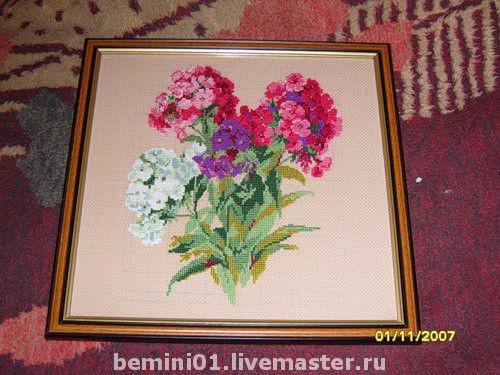 Картины цветов ручной работы. Ярмарка Мастеров - ручная работа. Купить Флоксы. Handmade.