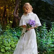 Одежда handmade. Livemaster - original item wedding shawl milky - Little Elsie. Handmade.