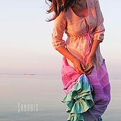 Свадебный салон ручной работы. Ярмарка Мастеров - ручная работа Свадебное платье из льна. Handmade.