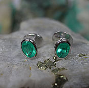 Chokers handmade. Livemaster - original item Men`s Cufflinks, Emerald Cufflinks, 11.56tcw Colombian Emerald Cufflin. Handmade.