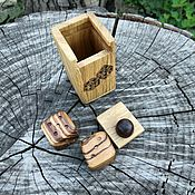 Сувениры и подарки handmade. Livemaster - original item Box with Zebrano cubes. Handmade.