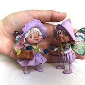 Куклы и игрушки ручной работы. Ярмарка Мастеров - ручная работа Черничные феи. Handmade.