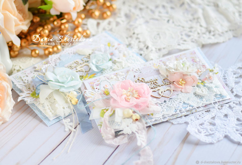 Подарки на свадьбу ручной работы. Ярмарка Мастеров - ручная работа. Купить Нежный денежный конверт на свадьбу. Handmade. Свадьба