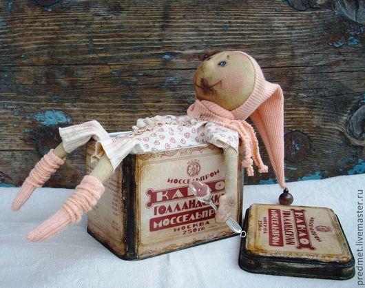 Коллекционные куклы ручной работы. Ярмарка Мастеров - ручная работа. Купить Любитель какао. Handmade. Бежевый, интерьерная кукла, трикотаж