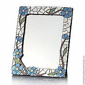 Для дома и интерьера ручной работы. Ярмарка Мастеров - ручная работа Зеркало в мозаичной рамке с цветочным орнаментом. Handmade.