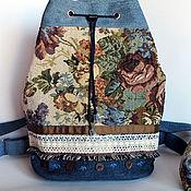 Сумки и аксессуары ручной работы. Ярмарка Мастеров - ручная работа Джинсовый рюкзак торба. Handmade.