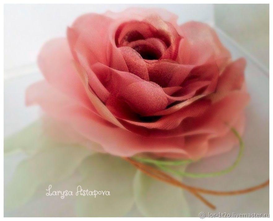 Брошь -заколка Шелковая роза, Комплекты украшений, Черкассы, Фото №1